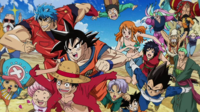 Luffy, Goku, Toriko, One Piece, Dragon Ball Z