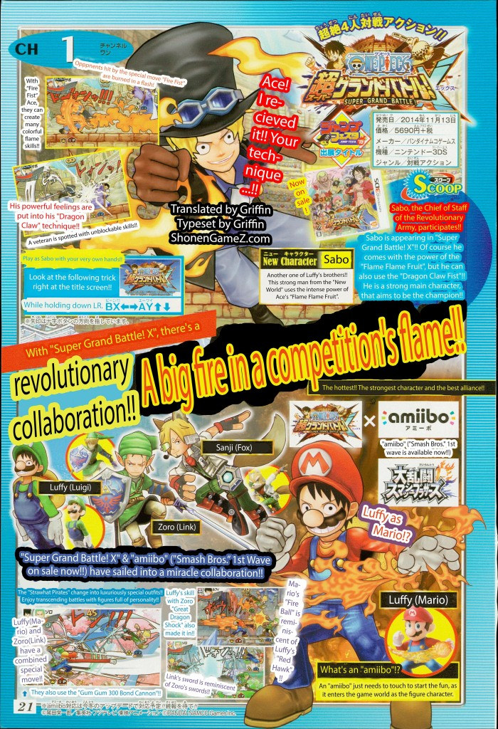 One Piece Super Grand Battle! X has Amiibo Support