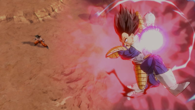 Vegeta Charging His Galick Gun