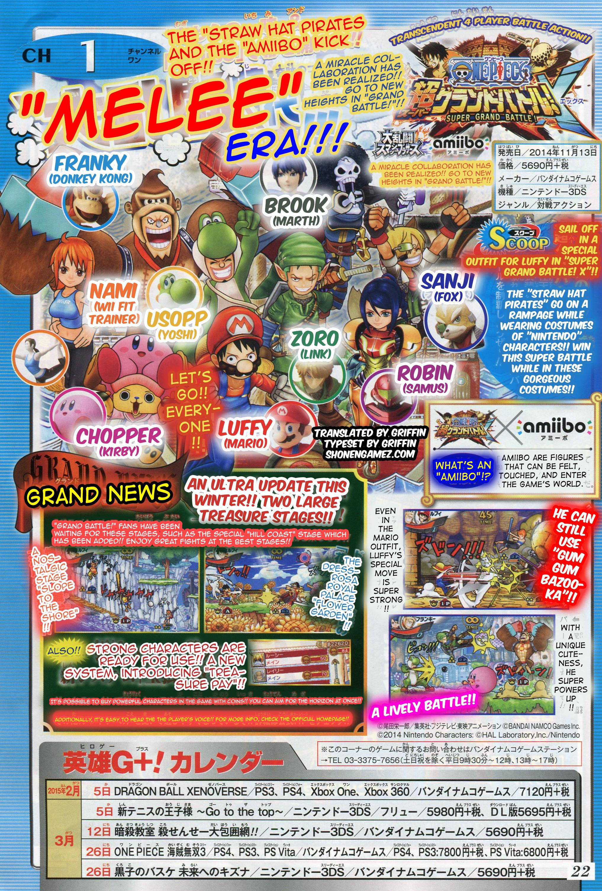 One Piece Super Grand Battle X Stages
