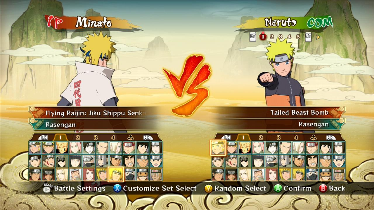 Check Out The Entire Character Roster For Naruto Storm
