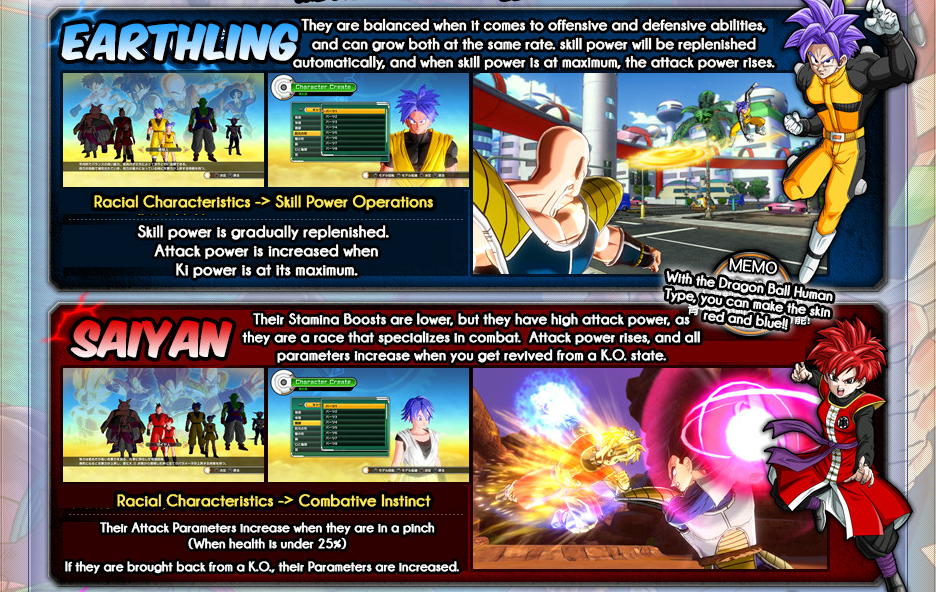 Dragon Ball Xenoverse Website Update Details On Classes