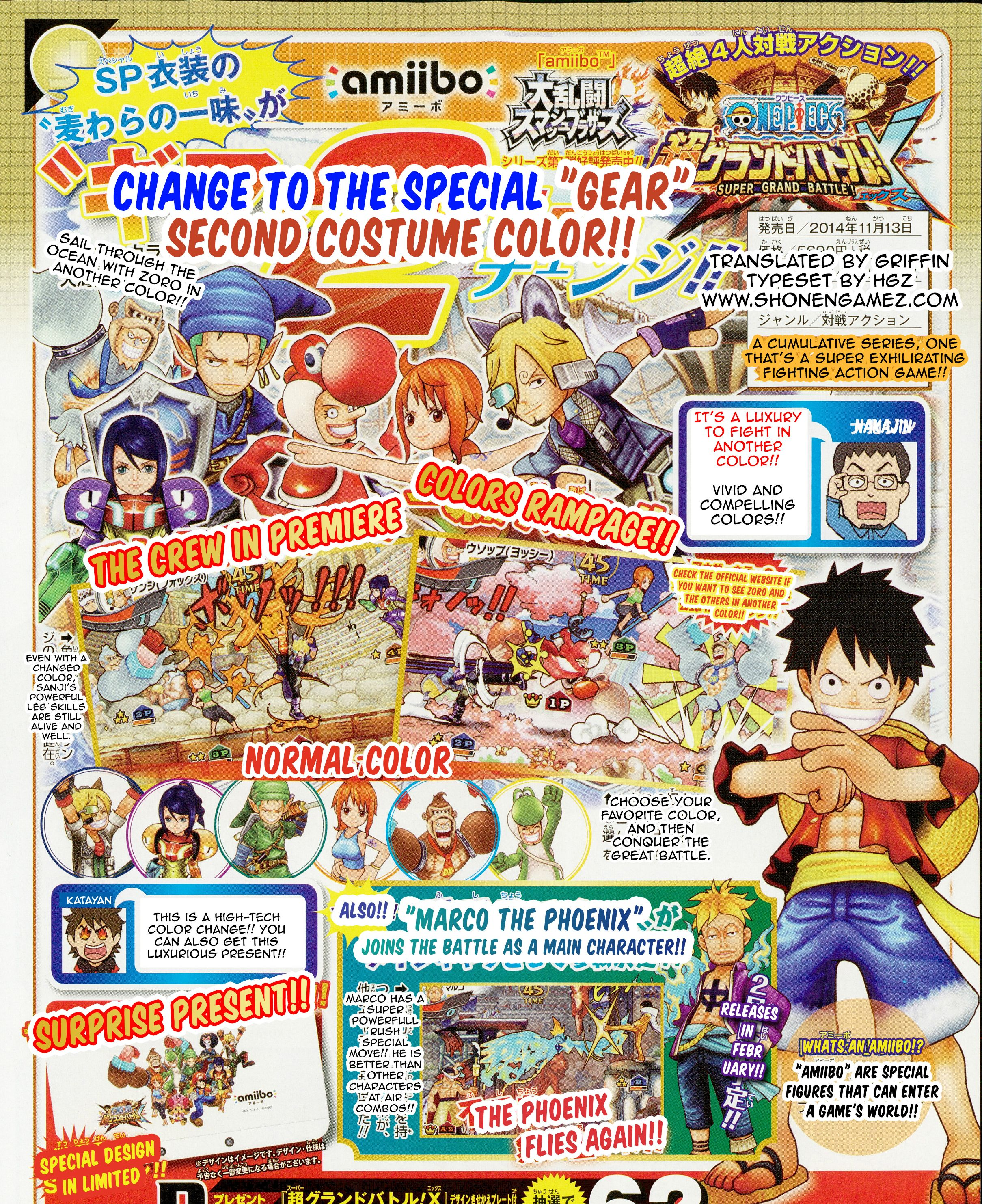 One Piece Super Grand Battle X: One Piece: Super Grand Battle! X Scan Reveals Marco The