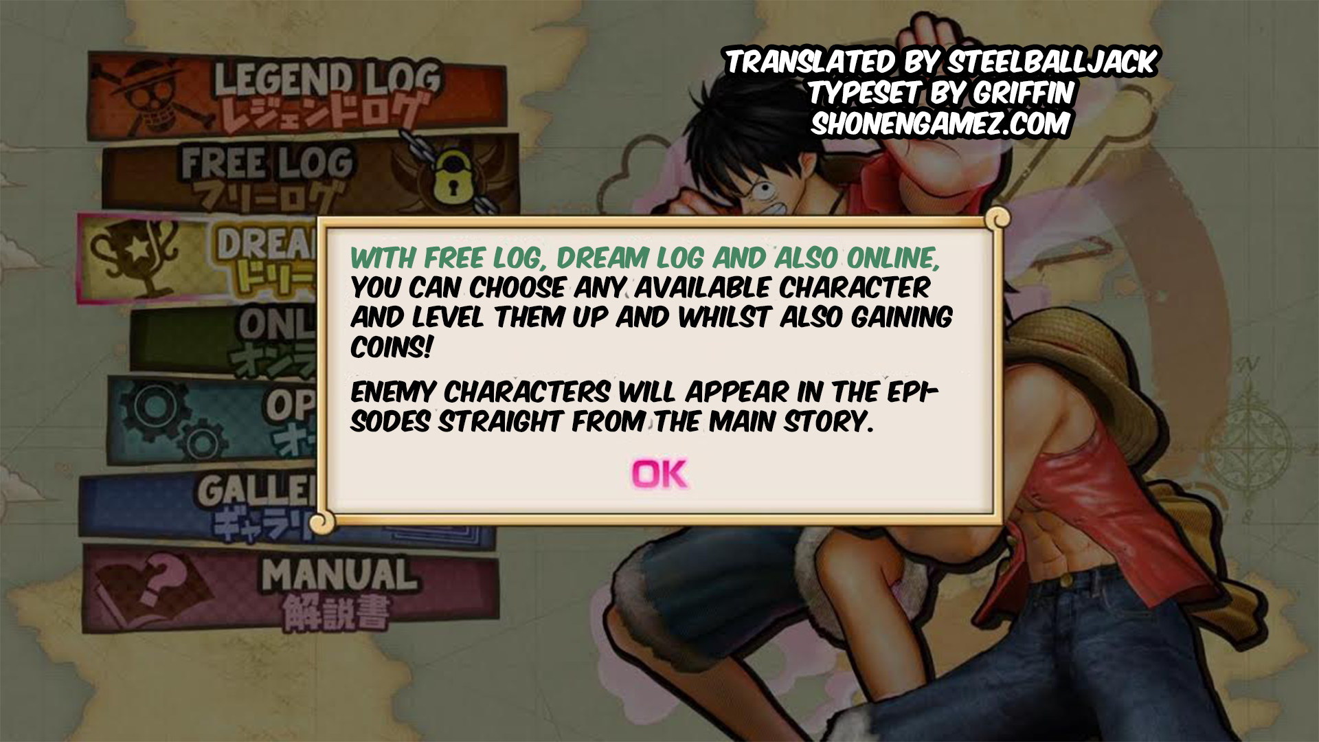 One Piece Pirate Warriors 3 Translations Update Character Costume