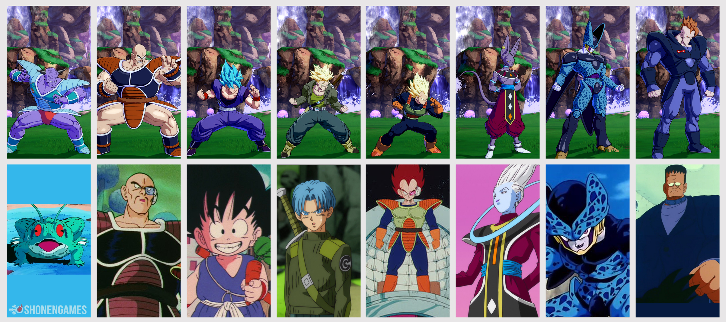 Dragon Ball FighterZ \u2013 All Character Color References